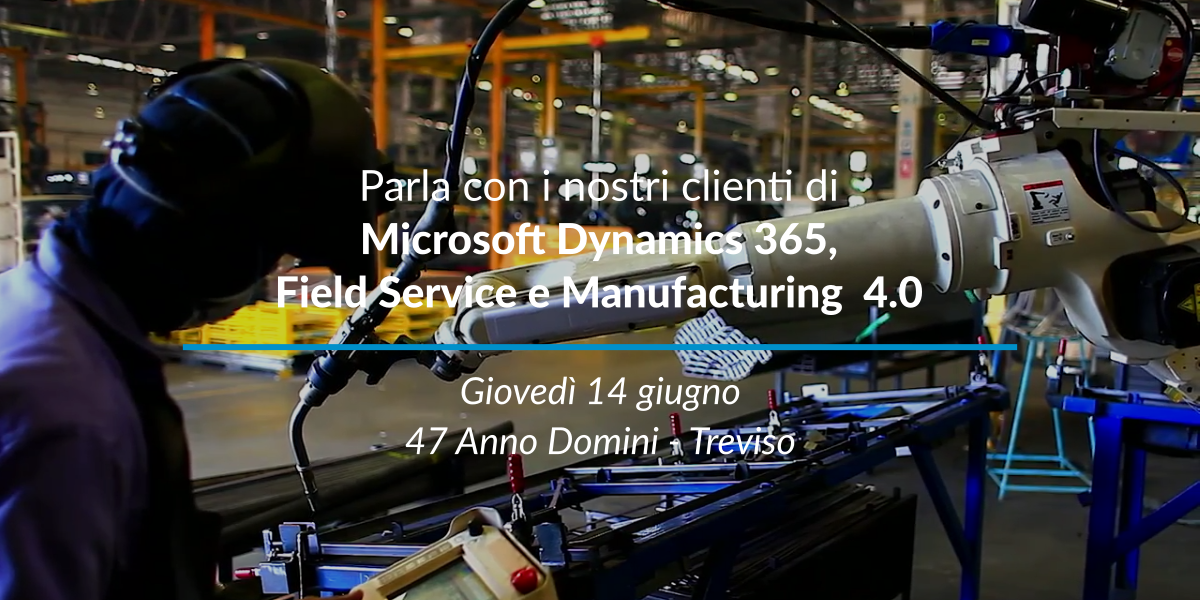 Evento CRM Microsoft Dynamics 365 14 giugno 2018 Treviso