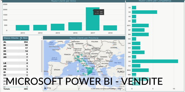 Microsoft Power BI Vendite