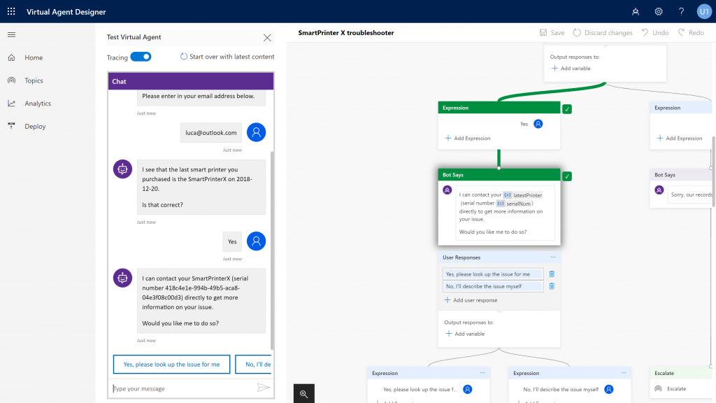 Microsoft Dynamics 365 virtual agent